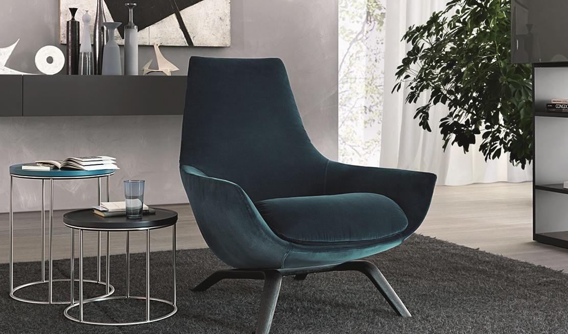 Blue collection ligstoel Van der Voort Interiors